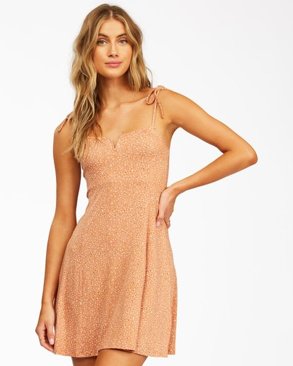 0 Sunny Bliss Mini Dress Brown ABJKD00129 Billabong