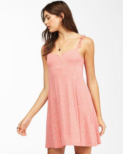 2 Sunny Bliss Mini Dress Red ABJKD00129 Billabong