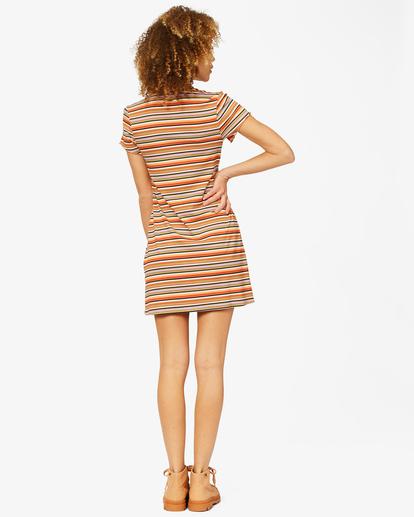 2 Lost In Time Knit Stripe Mini Dress Multicolor ABJKD00153 Billabong