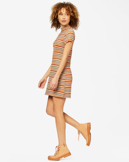 1 Lost In Time Knit Stripe Mini Dress Multicolor ABJKD00153 Billabong