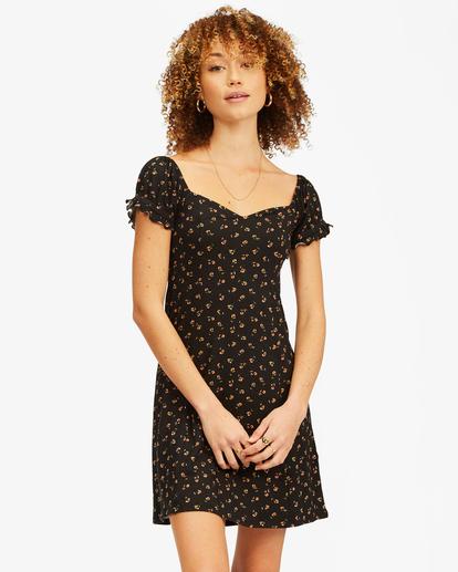 0 Forever Flirty Sweetheart Mini Dress Black ABJKD00155 Billabong