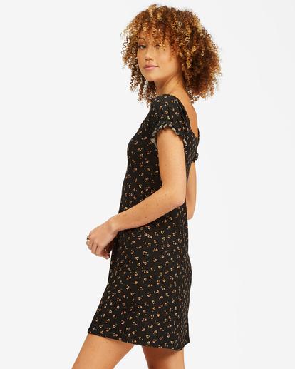 1 Forever Flirty Sweetheart Mini Dress Black ABJKD00155 Billabong