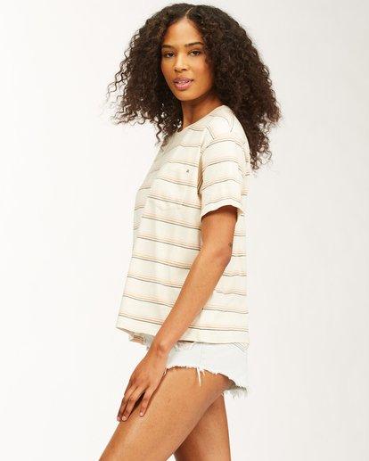 1 Beach Stripes Short Sleeve T-Shirt Grey ABJKT00185 Billabong