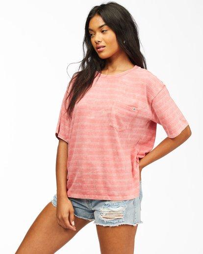 1 Beach Stripes Short Sleeve T-Shirt Multicolor ABJKT00185 Billabong
