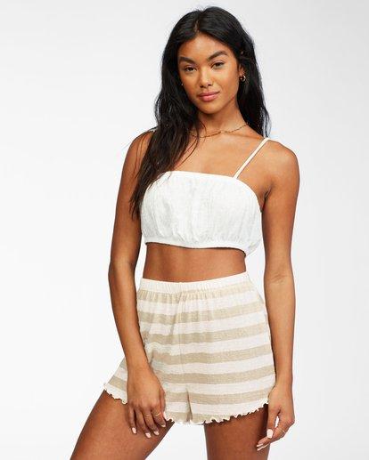 1 Tiny Tropics Knit Bralette White ABJKT00201 Billabong