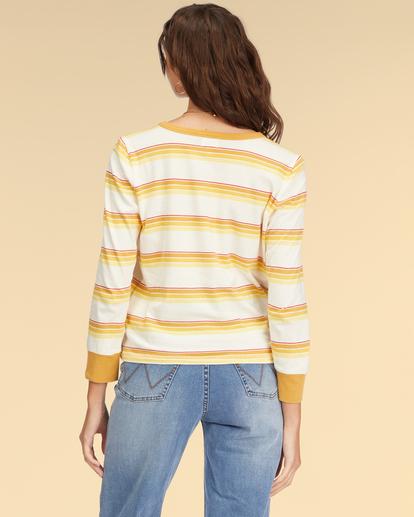 3 Wrangler Going Retro Long Sleeve T-Shirt Yellow ABJKT00237 Billabong