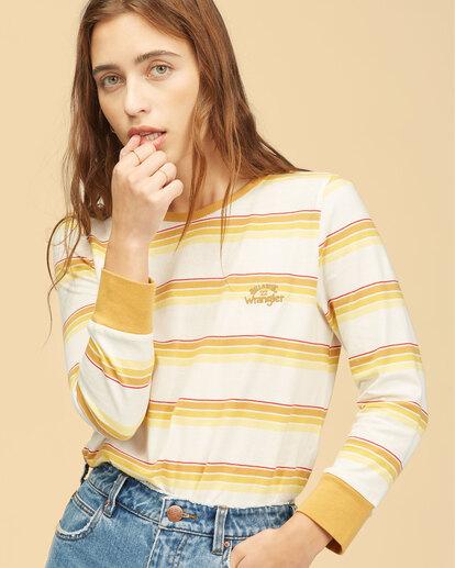 4 Wrangler Going Retro Long Sleeve T-Shirt Yellow ABJKT00237 Billabong