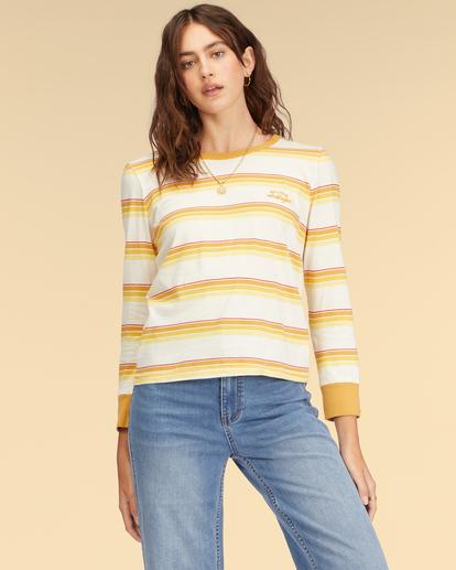 1 Wrangler Going Retro Long Sleeve T-Shirt Yellow ABJKT00237 Billabong