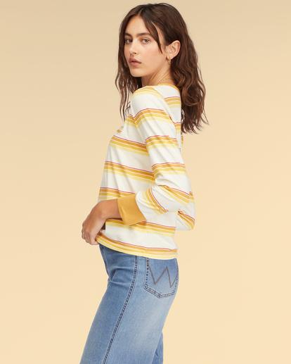 2 Wrangler Going Retro Long Sleeve T-Shirt Yellow ABJKT00237 Billabong
