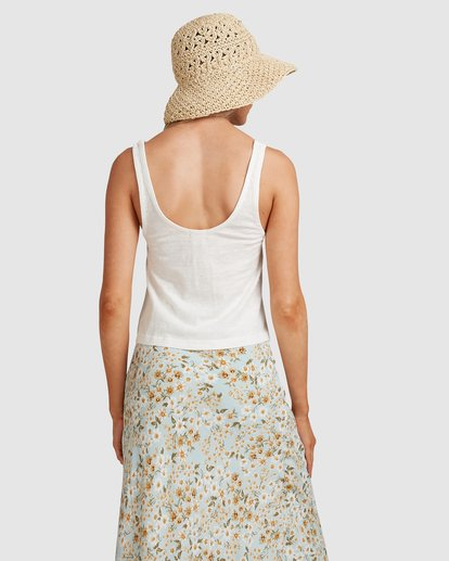 2 Button Up Tank White ABJKT00248 Billabong