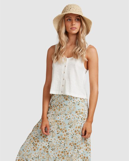 6 Button Up Tank White ABJKT00248 Billabong
