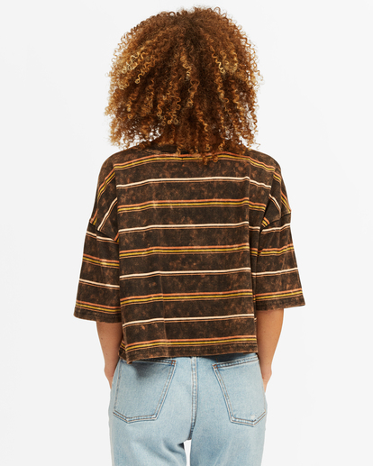 2 Soul Surfer Striped Boxy T-Shirt Black ABJKT00293 Billabong