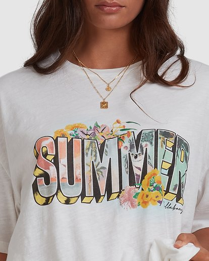 4 Shine On Short Sleeve T-Shirt White ABJKT00301 Billabong