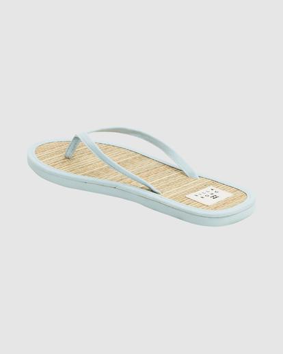2 Tiki Bamboo Thong Sandals Blue ABJL100039 Billabong