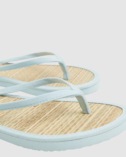 3 Tiki Bamboo Thong Sandals Blue ABJL100039 Billabong