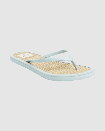 1 Tiki Bamboo Thong Sandals Blue ABJL100039 Billabong