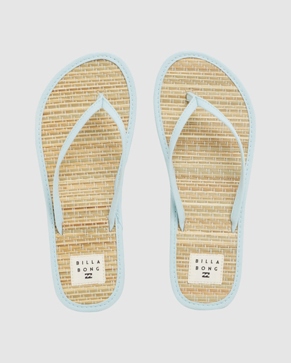 0 Tiki Bamboo Thong Sandals Blue ABJL100039 Billabong