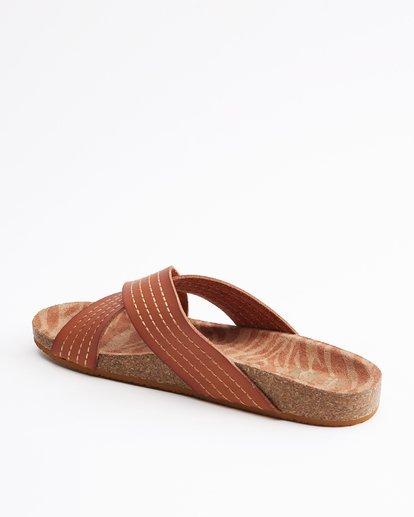 3 Bella Vista Double Strap Sandals Beige ABJL200029 Billabong