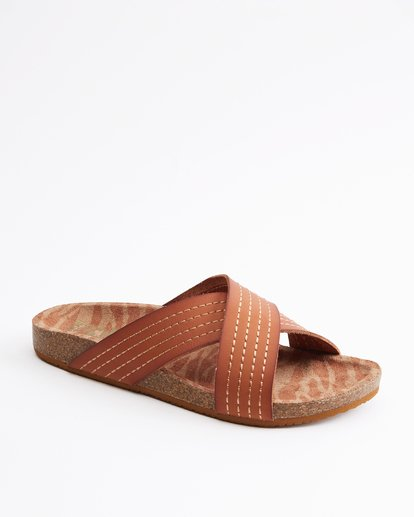 2 Bella Vista Double Strap Sandals Beige ABJL200029 Billabong