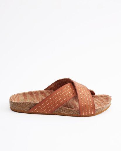 4 Bella Vista Double Strap Sandals Beige ABJL200029 Billabong