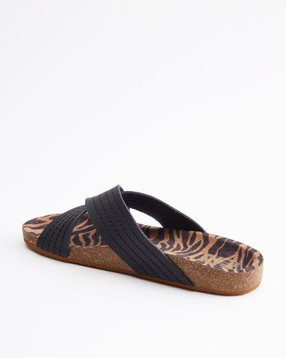 3 Bella Vista Double Strap Sandals Black ABJL200029 Billabong