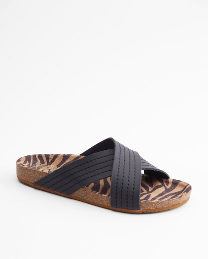 2 Bella Vista Double Strap Sandals Black ABJL200029 Billabong