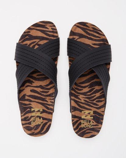 1 Bella Vista Double Strap Sandals Black ABJL200029 Billabong