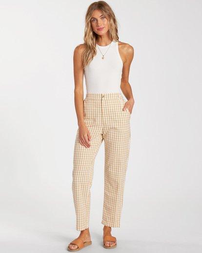 0 Checkmate Cropped Pants Grey ABJNP00137 Billabong