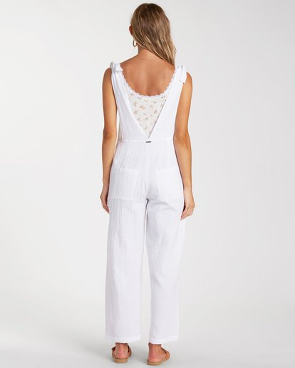 2 On The Road Jumpsuit White ABJNP00158 Billabong