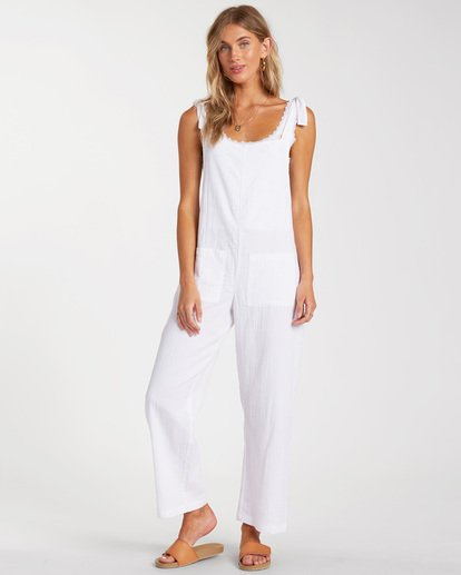 0 On The Road Jumpsuit White ABJNP00158 Billabong