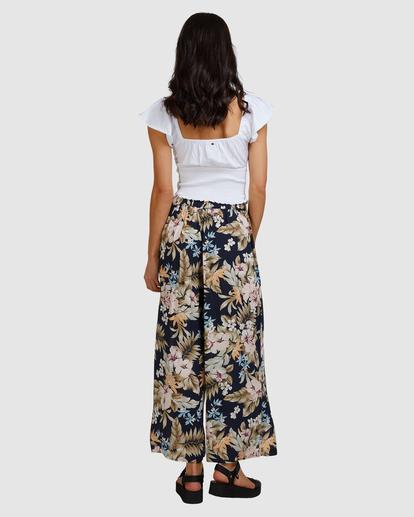 3 Tropicool Wide-Leg Floral Pants Black ABJNP00254 Billabong