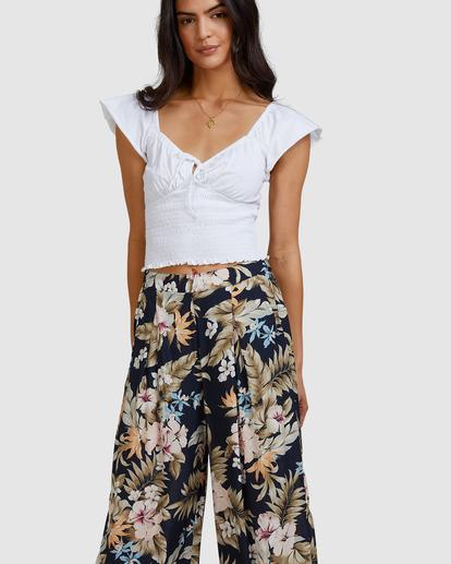 5 Tropicool Wide-Leg Floral Pants Black ABJNP00254 Billabong