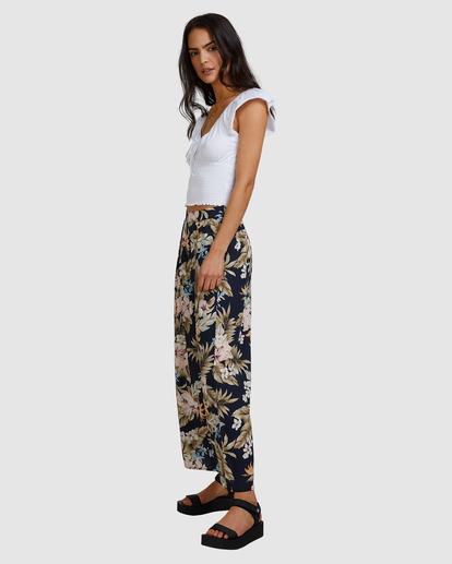 1 Tropicool Wide-Leg Floral Pants Black ABJNP00254 Billabong