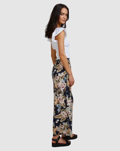 2 Tropicool Wide-Leg Floral Pants Black ABJNP00254 Billabong