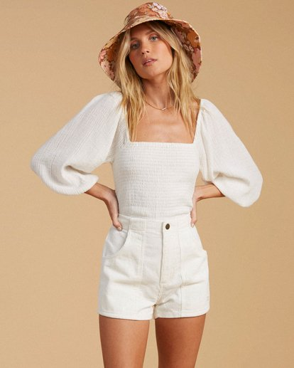 1 Salty Blonde Low Down Corduroy Shorts White ABJNS00116 Billabong
