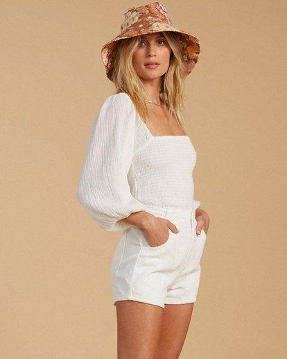 2 Salty Blonde Low Down Corduroy Shorts White ABJNS00116 Billabong