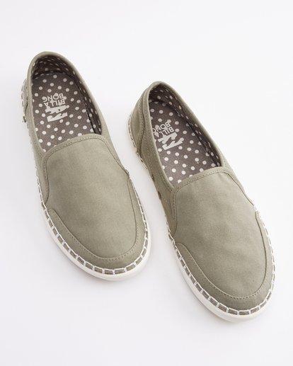 0 Del Sol Slip-On Shoe Green ABJS300015 Billabong