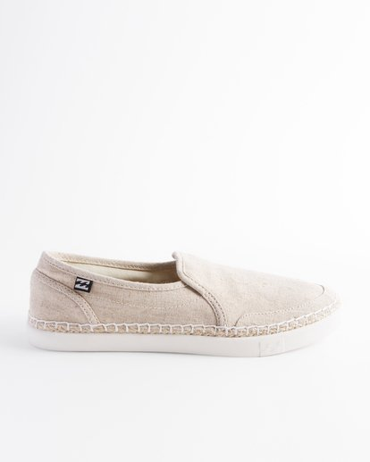 3 Del Sol Slip-On Shoes White ABJS300015 Billabong