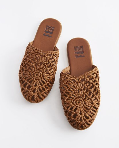 0 La Palma Beach Slides Beige ABJS700003 Billabong