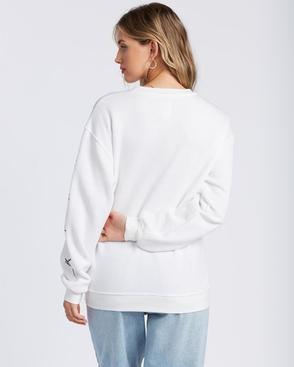 2 Palm Sketch Crew Sweatshirt White ABJSF00103 Billabong