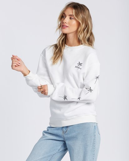 0 Palm Sketch Crew Sweatshirt White ABJSF00103 Billabong