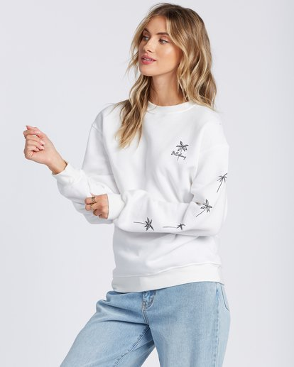 1 Palm Sketch Crew Sweatshirt White ABJSF00103 Billabong