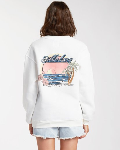 2 Chase The Sky Sweatshirt White ABJSF00116 Billabong