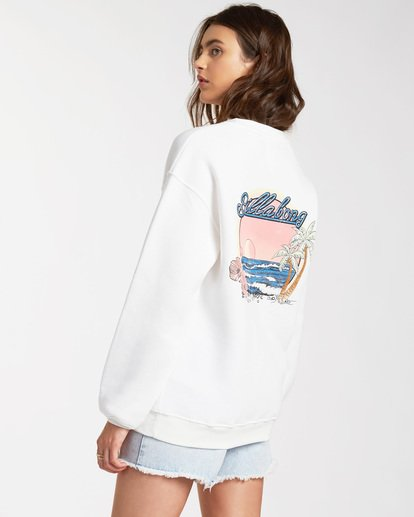 1 Chase The Sky Sweatshirt White ABJSF00116 Billabong