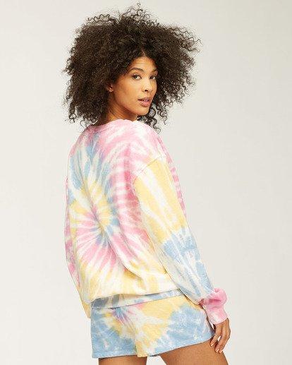 4 Sunny Rays Tie-Dye Crew Neck Sweatshirt Grey ABJSF00128 Billabong