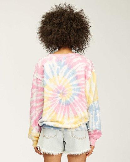2 Sunny Rays Tie-Dye Crew Neck Sweatshirt Grey ABJSF00128 Billabong