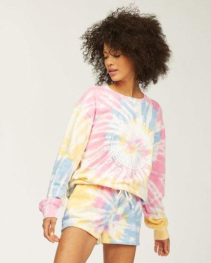 3 Sunny Rays Tie-Dye Crew Neck Sweatshirt Grey ABJSF00128 Billabong