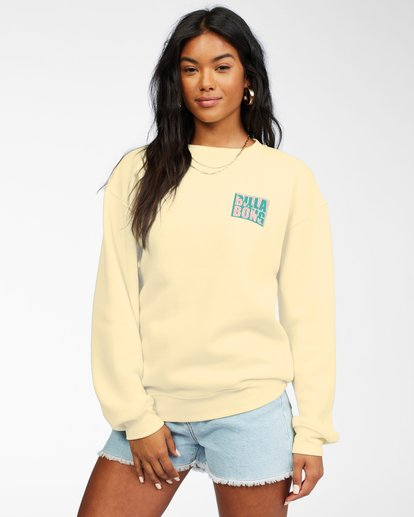 0 Tropic Shore Sweatshirt Yellow ABJSF00137 Billabong