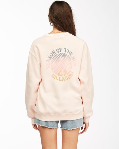 2 Season Of The Sun Crewneck Sweatshirt Pink ABJSF00149 Billabong