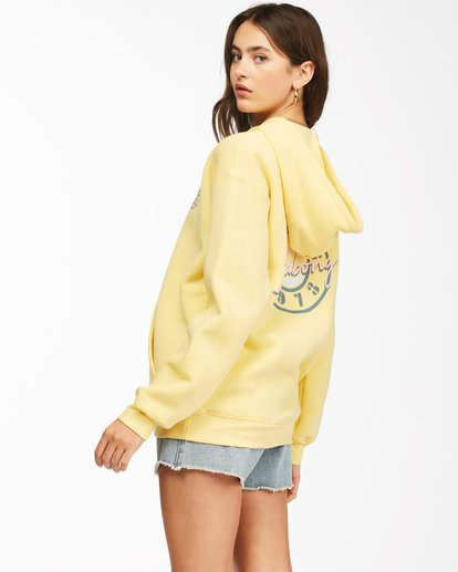 1 Way To Go Pullover Hoodie Yellow ABJSF00152 Billabong